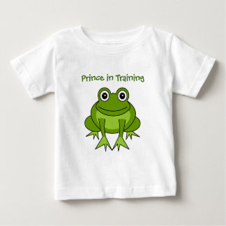 Cute Frog Cartoon - Prince in Training Baby T-Shirt