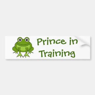 Cute Frog Cartoon - Prince in Training Bumper Sticker