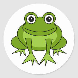 Cute Frog Cartoon - Prince in Training Classic Round Sticker