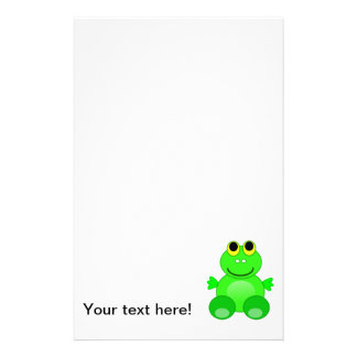 Cute frog cartoon stationery paper