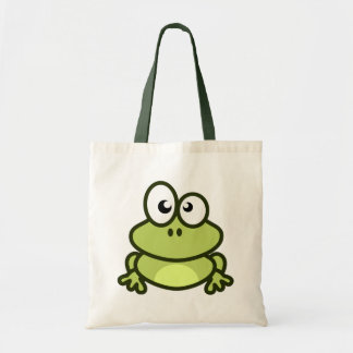 Cute Frog Cartoon Tote Bag