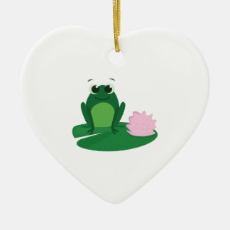 Cute Frog Christmas Ornament