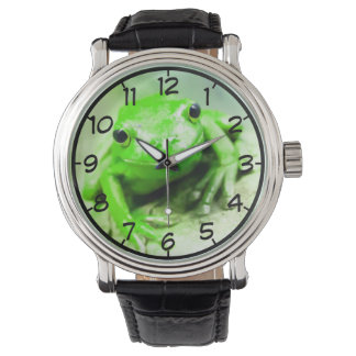 Cute Frog Clock Watch