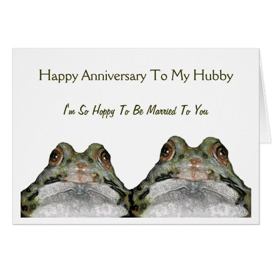 Cute Frog Couple: Hoppy Wife: Anniversary: Art Card