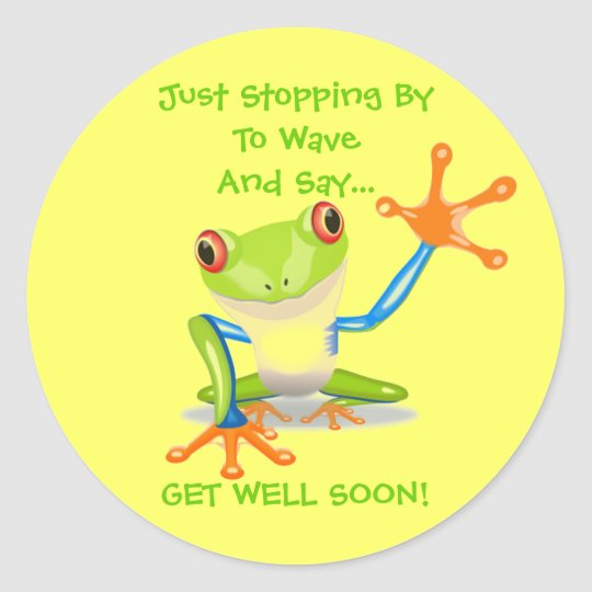 Cute Frog Funny Animal Kids Get Well Soon