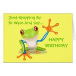 Cute Frog Funny Animal Kids Happy Birthday Greeting Card