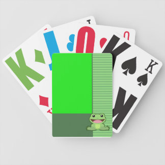 Cute Frog Green Cards Card Deck