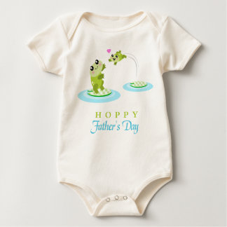Cute Frog Hoppy Happy Father's Day Baby Bodysuit