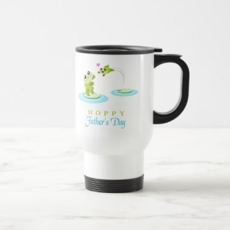 Cute Frog Hoppy Happy Father's Day Travel Mug