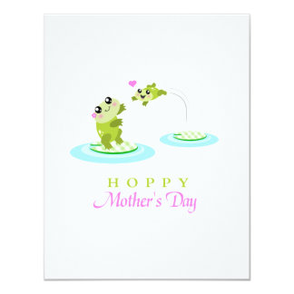 Cute Frog Hoppy Happy Mother's Day Card