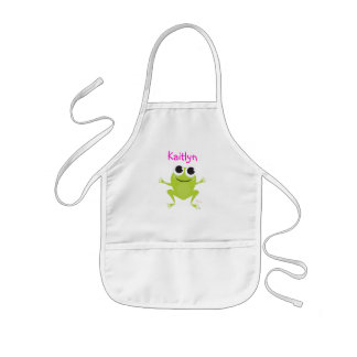 Cute Frog Kids Apron