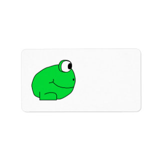 Cute Frog. Label