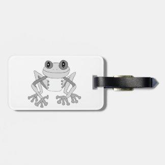 Cute frog luggage tag