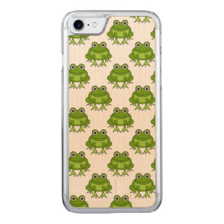Cute Frog Pattern Carved iPhone 8/7 Case