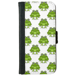 Cute Frog Pattern iPhone 6 Wallet Case