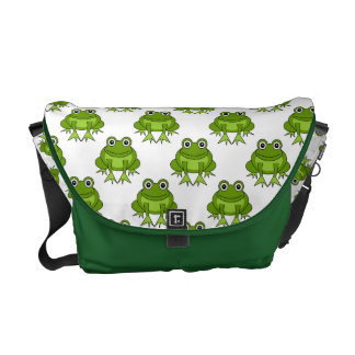 Cute Frog Pattern Courier Bags