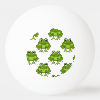 Cute Frog Pattern Ping Pong Ball