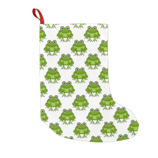 Cute Frog Pattern Small Christmas Stocking