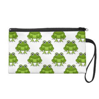 Cute Frog Pattern Wristlet Purse