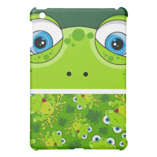 Cute Frog Patterned ipad Case