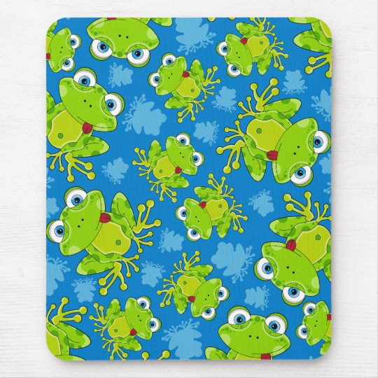Cute Frog Patterned Mousepad