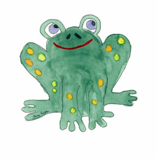 Cute Frog Photo Sculpture