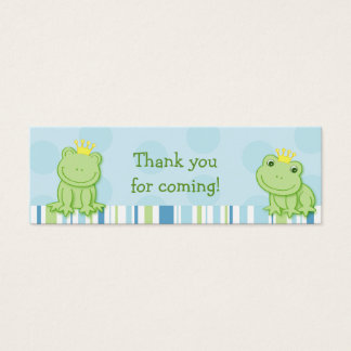 Cute Frog Prince Baby Shower Favor Gift Tags Mini Business Card