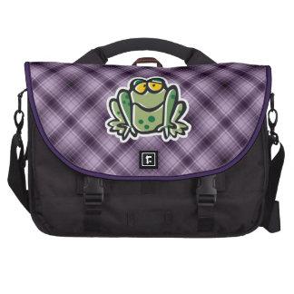 Cute Frog Purple Computer Bag