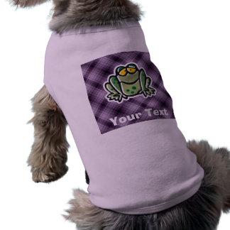 Cute Frog; Purple Shirt
