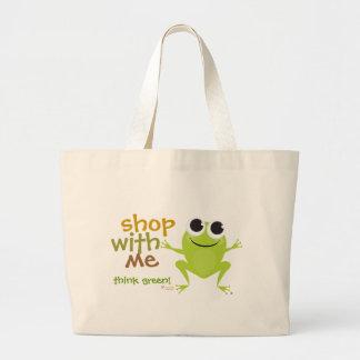 Cute Frog Reusable Shopping Bag
