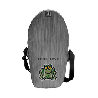 Cute Frog Silver Messenger Bags
