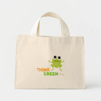 "Cute Frog ""Think Green"" Tote Bag"