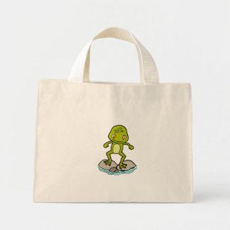 Cute frog mini tote bag
