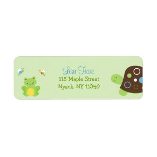 Cute Frog Turtle Bee Address Labels