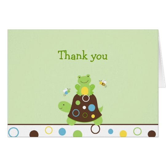 Cute Frog Turtle Bee Thank You Note Cards