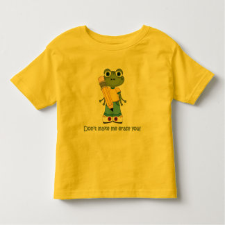 Cute Frog with Pencil Shirt
