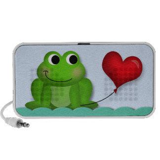 Cute Froggy Heart Balloon - Doodle Speaker