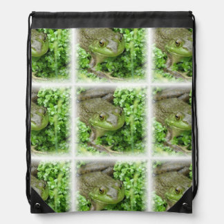 Cute Frogs Drawstring Bags