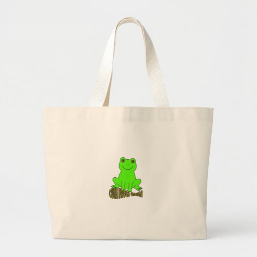 Cute Frogs Green Bags