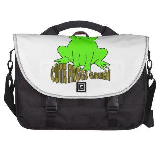 Cute Frogs Green Laptop Commuter Bag