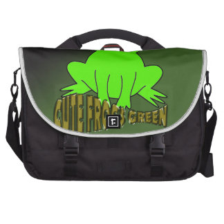 Cute Frogs Green With Background Commuter Bags