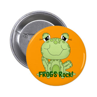 Cute Frogs Rock Love Frog Products 6 Cm Round Badge