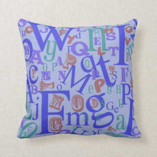 Cute From A to Z Alphabet Cushion