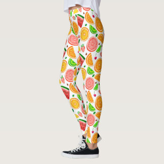 Cute FRUITS watermelon orange slices Leggings