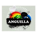 Cute Fruity Anguilla Postcard