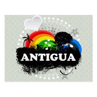 Cute Fruity Antigua Postcard