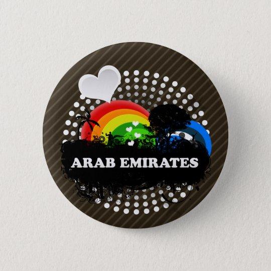 Cute Fruity Arab Emirates 6 Cm Round Badge