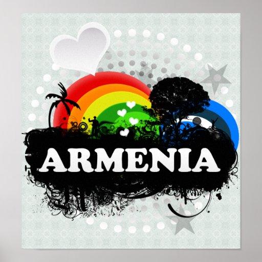 Cute Fruity Armenia Poster