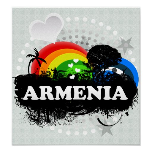 Cute Fruity Armenia Print