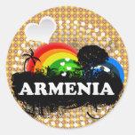 Cute Fruity Armenia Round Stickers